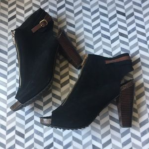 Kenneth Cole Open Toe Booties